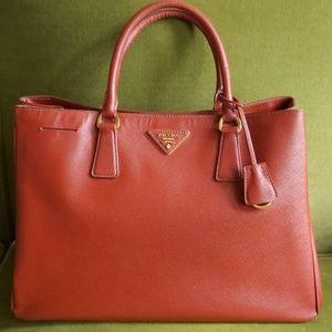 Prada Saffiano Lux large satchel